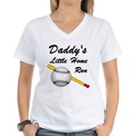 Dad's Home Run Women's V-Neck T-Shirt