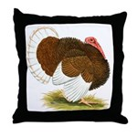 Bourbon Red Tom Turkey Throw Pillow
