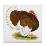 Bourbon Red Tom Turkey Tile Coaster
