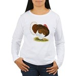 Bourbon Red Tom Turkey Women's Long Sleeve T-Shirt