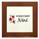 WB Mom [Albanian] Framed Tile