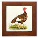 Bourbon Red Hen Turkey Framed Tile