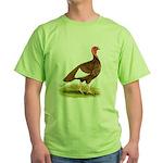 Bourbon Red Hen Turkey Green T-Shirt