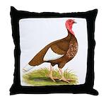 Bourbon Red Hen Turkey Throw Pillow
