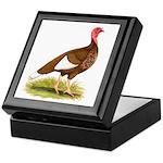 Bourbon Red Hen Turkey Keepsake Box