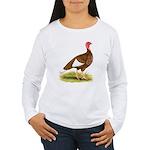 Bourbon Red Hen Turkey Women's Long Sleeve T-Shirt