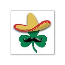 "Sombrero Clover Square Sticker 3"" x 3"""