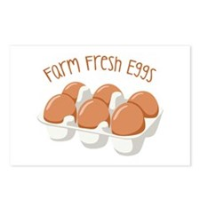 Farm Fresh Eggs Postcards (Package of 8)