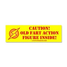 Fathers Day Old Fart Action Car Magnet 10 X 3