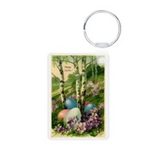 Happy Easter!  with trees  Keychains