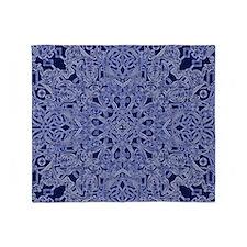 dark blue floral  Throw Blanket