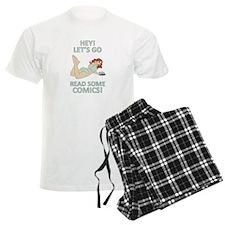 Lets go read some comics! Pajamas