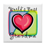 World's Best Grandma Tile Coaster