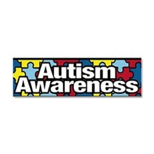 Funny Autism support Car Magnet 10 x 3