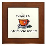 Fueled by Cafe con Leche Framed Tile