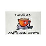 Fueled by Cafe con Leche Rectangle Magnet (10 pack