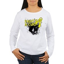 Sarcoma Fight For A Cure Gloves On Long Sleeve T-S