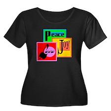 Peace Joy Love/ Plus Size T-Shirt