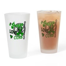 Gastroparesis Peace Love Cure 2 Drinking Glass