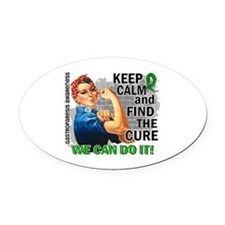 Gastroparesis Rosie Keep Calm Oval Car Magnet