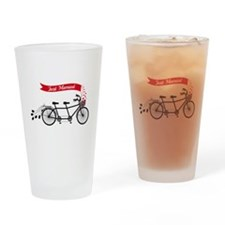 Just married, wedding tandem bicycle Drinking Glas