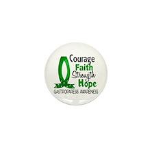 Gastroparesis Courage Faith Mini Button (10 pack)