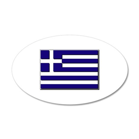 Flag of Greece NO Txt 20x12 Oval Wall Decal