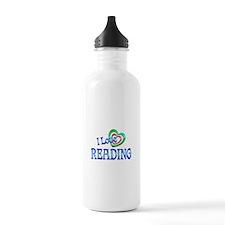 I Love Reading Water Bottle
