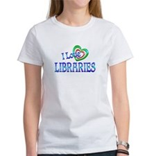 I Love Libraries Tee