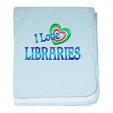I Love Libraries baby blanket