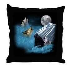Leader Of The Pack Wolves Throw Pillow