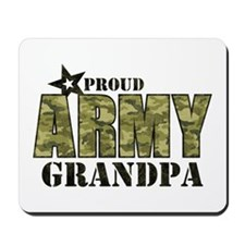 Camo Proud Army Grandpa Mousepad