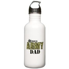 Camo Proud Army Dad Water Bottle