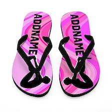 Pink Swimming Flip Flops
