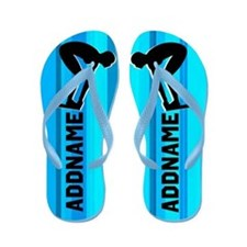Blue Swimming Flip Flops