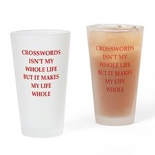 crosswords Drinking Glass