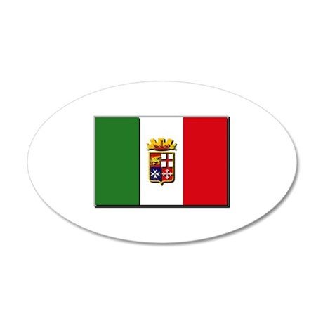 Italian Naval Ensign Flag 35x21 Oval Wall Decal