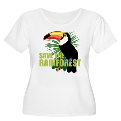 Save The Rainforest Women's Plus Size Scoop Neck T