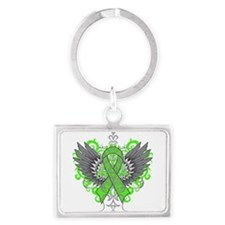 Mental Health Wings Landscape Keychain
