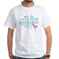 Ovarian Cancer Colorful Slogans T-Shirt
