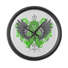 Lyme Disease Wings Large Wall Clock