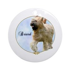 Briard Portrait Ornament (Round)