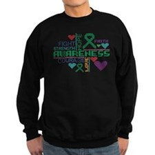 Liver Cancer Colorful Slogans Sweatshirt