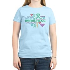 Liver Cancer Colorful Slogans T-Shirt