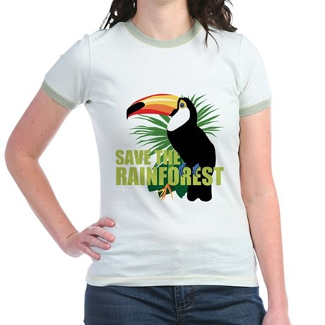 Save The Rainforest Jr. Ringer T-Shirt