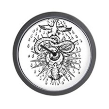 Alchemical Frog, Snake and Ph Wall Clock