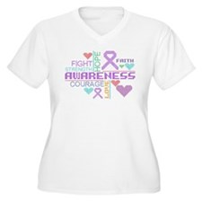 Leiomyosarcoma Colorful Slogans Plus Size T-Shirt