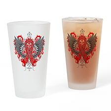 Hemophilia Wings Drinking Glass
