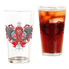 Heart Disease Wings Drinking Glass
