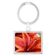 Orange Lilly  Landscape Keychain